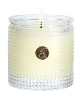 Aromatique -Orange & Evergreen - Textured Glass Candle