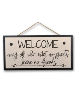 Enter As Guests Leave As Family\' Wood Wall Sign