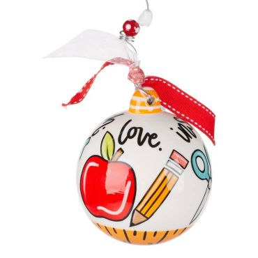 TEACH LOVE INSPIRE ORNAMENT