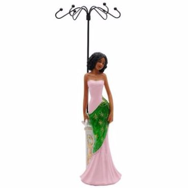 Glamour Jewelry Holder - Pink And Gree